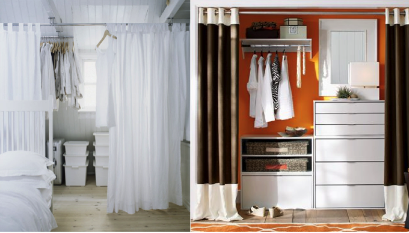 how to make a dressing room with curtains